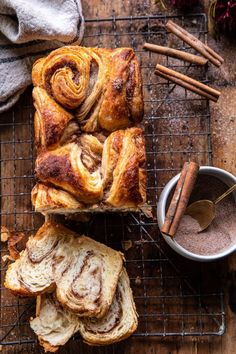 Frugal Food Items - How To Prepare Dinner And Luxuriate In Delightful Meals Without Having Shelling Out A Fortune Easy Swirled Cinnamon Sugar Croissant Loaf Homemade Apple Butter, Pumpkin Butter, Homemade Breads, Half Baked Harvest, Harvest Bread, Cinnamon Rolls, Cinnamon Bread, Fall Recipes, Drink Recipes