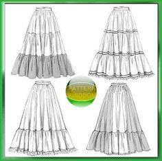 McCalls 5157 18th/19th Century Victorian Ruffle Skirt Patterns