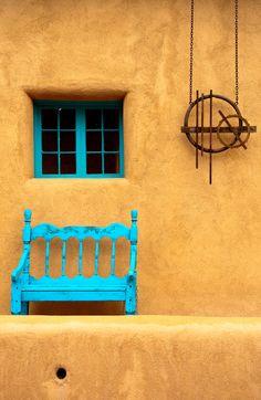While strolling along Canyon Road, Santa Fe you see creative visions like this