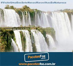 As Cataratas do Iguaçu, eleitas uma das Sete Novas Maravilhas da Natureza, encantam qualquer visitante. A magia que envolve o Parque Nacional do Iguaçu e as quedas é inspiradora e por isso atrai turistas do mundo inteiro. Você já visitou as Cataratas? Sim? Então vale uma nova visita pois, pode ter certeza, você irá se surpreender novamente. Caso ainda não tenha ido, não perca tempo, insira o passeio no seu roteiro em Foz do Iguaçu. www.pacotesfoz.com.br