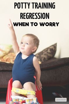 Potty Training Regression. When to Worry. Potty Training Regression is normally just a phase, but sometimes it can be an indicator of something…