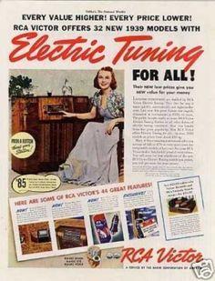 Rca Victor Radio Color Ad Model 97kg (1939)