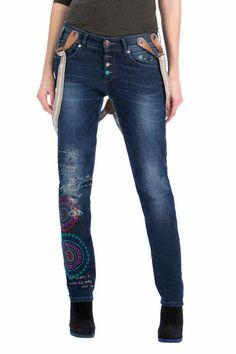Desigual Jeans with Suspenders Lurdes