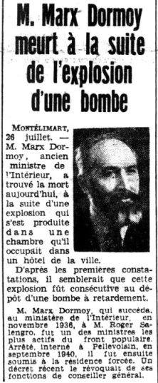 DESTIN D'ACTRICE: ANNE MOURRAILLE, COMÉDIENNE ET COMPLICE DE L'ASSASSINAT DE MARX DORMOY – VU DU BOURBONNAIS… Marx, Front Populaire, Destin, Beginning Sounds