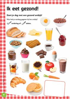 Learn Dutch, Food Facts, Natural, Panna Cotta, Fruit, Healthy Eating, Ethnic Recipes, Projects, Spelling