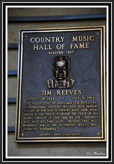 Jim Reeves - Inducted in 1967