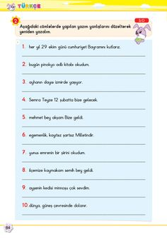 2. Sınıf Soru Bankası Türkçe Süper Kitap Turkish Lessons, Working Memory, Learning Arabic, Worksheets, Language, Student, Memories, Education, Math