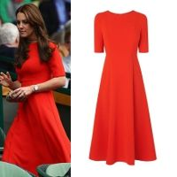 Shop LK Bennett Cayla Cardinal Red Dress as seen on Duchess of Cambridge. Copy Princess Kate's style with the best repliKate dresses for less! Red Dress Costume, Dress Red, Duchess Kate, Duchess Of Cambridge, Royal Fashion, Love Fashion, Kate Middleton Dress, Kate Dress, Dresses For Less