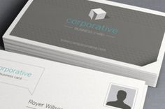 A unique minimalist and classic corporate business card template. Any company can use this business card, just swap your logo in,...