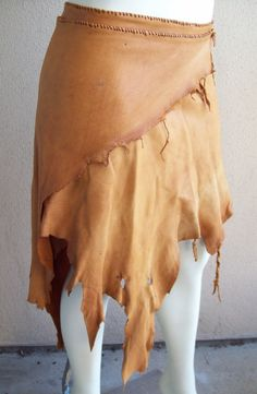 Amber Deerskin Wrap Skirt by ArchaicLeatherworks on Etsy, $140.00