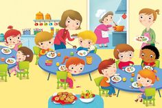 Lunchroom I have lunch Kindergarten Math Worksheets, Preschool Activities, School Clipart, Picture Story, Cartoon Kids, Cute Illustration, Kids Education, Classroom Decor, Art School