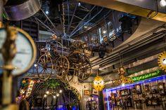 la Joben Bistro, un loc desprins din cărțile lui Jules Verne Jules Verne, Fair Grounds, Interior Design, Nest Design, Home Interior Design, Interior Designing, Home Decor, Interiors, Design Interiors