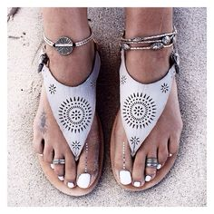 love the sandals and the foot jewelry