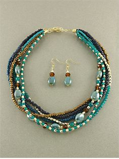 Kelly Murano Glass Necklace Set - DIY with a handful of focus beads