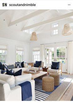 Light and bright coastal interior with a relaxed feel | coastal home décor | coastal interiors | nautical interiors | nautical home décor | beach house