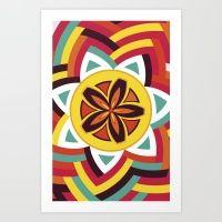 Mandala Love Pattern Art Print