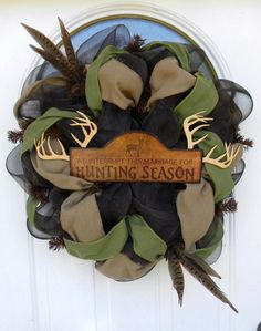 hunting season....omg need to make this!! already have the sign :)