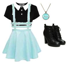 """""""Pastel Goth #2"""" by singeractress127 ❤ liked on Polyvore"""