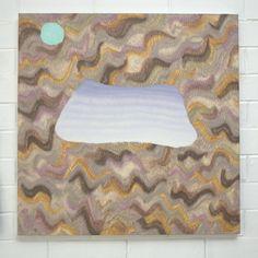 AMBER WILSON, Blue Skin Bay, 2013, Oil on canvas, 600 x 600mm