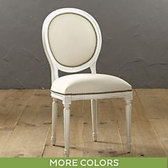 Oval Back Louis XVI Side Chair   Brass Nailheads