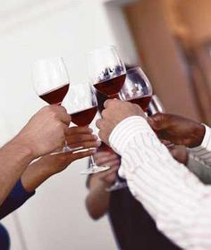Have guests sample five different types of wine (more will overwhelm the palette). It's fine to mix reds and whites; just serve them in order from lightest to darkest, since darker wines tend to be heavier.