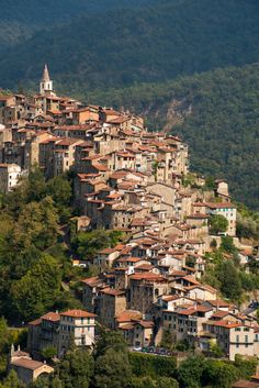 "travel-lusting: ""Apricale, Liguria, Italy (by Iggi Falcon) """