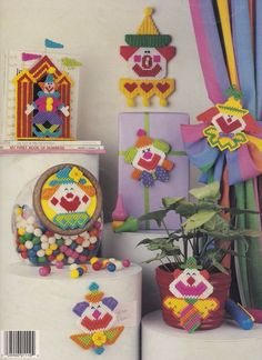 Send in the Clowns Leisure Arts Plastic Canvas by LucyGooseyDolls