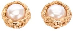 Chanel Vintage Pearl Clip Earrings