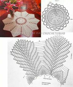 Knitting Patterns Lace We are accustomed to seeing the beautiful pieces in crochet decorating the bathroom, through the charming j … Mandala Au Crochet, Crochet Circles, Crochet Doily Patterns, Crochet Diagram, Crochet Round, Crochet Chart, Thread Crochet, Crochet Designs, Knitting Patterns