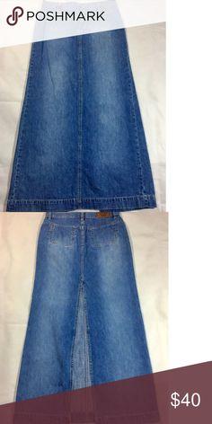 Long Tommy Hilfiger Denim Skirt Floor length Long Tommy Hilfiger Denim Skirt with a sexy split in the back, Tommy Hilfiger Skirts