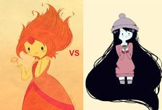 Both are my favorite girls characters, much more Marceline!!!