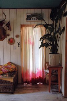 dip dyed curtains.  Oh yeah, I was gonna make some of these...