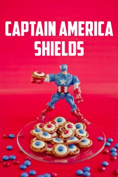 These quick and easy Captain American Shields will be the hit at your next Super Hero party!