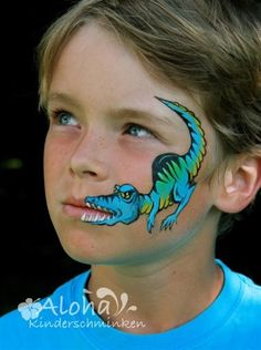 Dino face paint