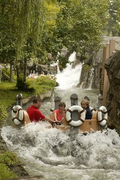 The best way to cool off on a hot day at Dollywood: River Rampage.