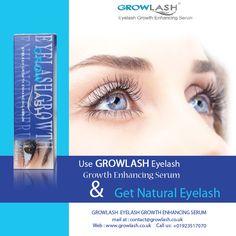 Use Growlash Eyelash Growth Enhancing Serum & get #Natural #Eyelash