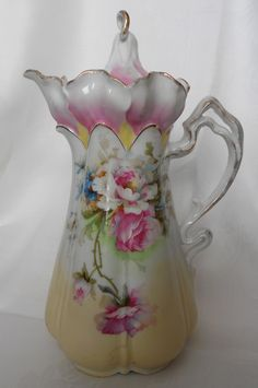 Some of the most beautiful examples of antique chocolate pots include ...