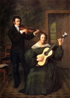 Buys, Cornelis Bernudes (1808-1872) - The Duet, 1836