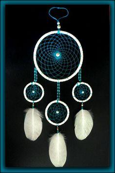 White and blue dreamcatcher  https://www.facebook.com/Anna-Bijoux-860575383999728/