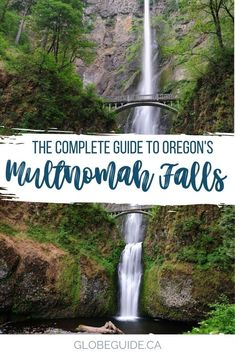 The Columbia River Gorge is famous for its waterfalls, and Multnomah Falls in Oregon is the crown jewel. Here's how to make the most of your visit. Oregon travel | Oregon waterfall hikes | Oregon waterfalls | Oregon waterfalls road trip | USA travel