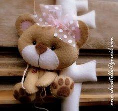 Inspiração para ursinhos amigas do feltro