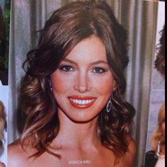Great hair, great make-up. From InStyle. My hair's the right length now-can't wait to try!