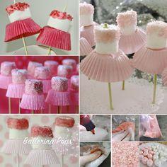 Ballerina Marshmallow Pops