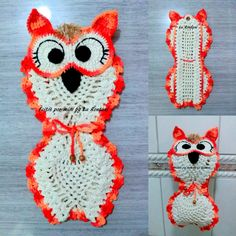 Lindo porta papel higiênico de corujinha em crochê. <br>Feito sob encomenda na cor desejada pelo cliente. <br>Peça feita com barbante 100% de algodão.