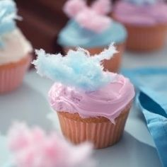 Cotton Candy Cupcakes (the icing itself is cotton candy flavored!)