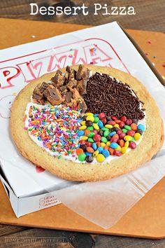 una idea para hacer una pizza dulce