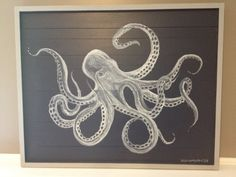 Octopus Painting by BeachPointDesigns on Etsy, $295.00