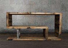 Consola de madera reciclada por AtlasWoodCo en Etsy Más