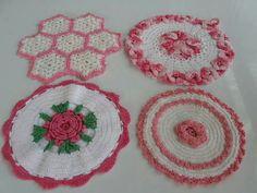 . Crochet Doilies, Bad, Pot Holders, Crochet Earrings, Mantas Crochet, Hot Pads, Potholders