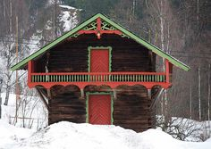 A beautiful Norwegian Stabbur (store house).